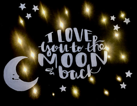 "Shoeless Joe's Georgetown Painting Night -  Dec 11th, 2017 - ""Love You To The Moon & Back with LED Lights"", 367 Guelph Street, Georgetown"