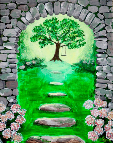 "Milestones Woodbridge Painting Night SALE! - Just $25! - Apr 23rd, 2018 (7-9pm) ""Secret Garden"""