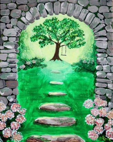 "Oscar's Roadhouse Painting Night- Sat Apr 7th, 2018 (2-4pm) ""The Secret Garden"" - 1785 Queen St E, Brampton"