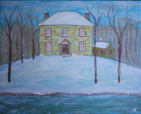 "Whale & Ale, Kitchener - Painting Night - Dec 21st, 2017 (7-9pm) ""Winter House"" 1120 Victoria St N, Kitchener"