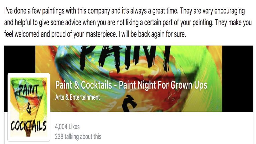 Join Paint & Cocktails