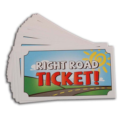 Right Road Incentive/Reward Tickets