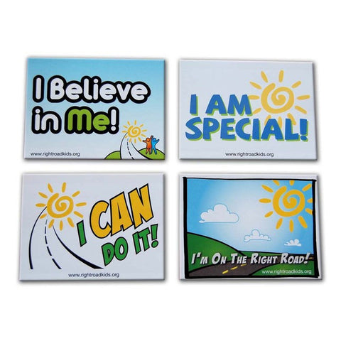 Right Road Series 1 Collector Stickers 4-Pack