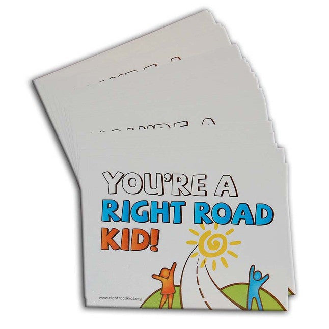 """You're a Right Road Kid!"" Stickers CLASS PACK"