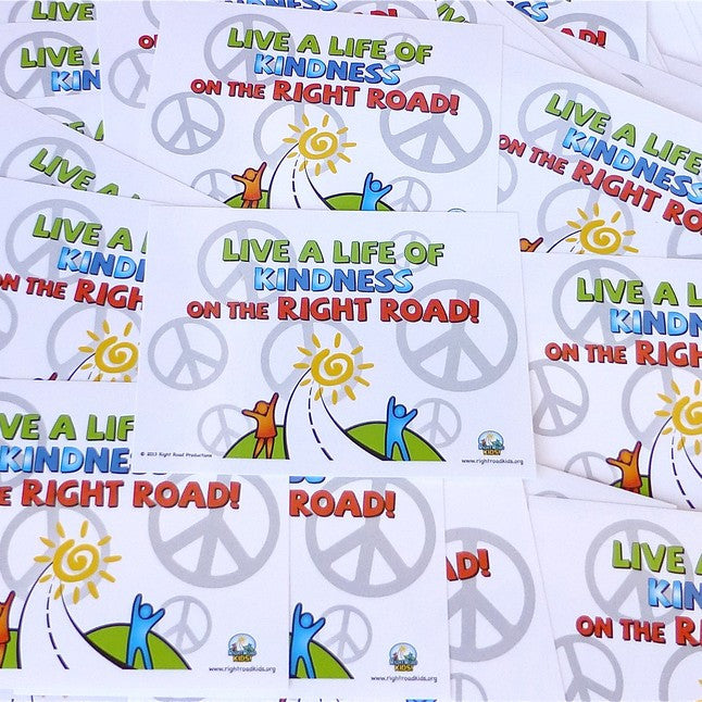 Right Road Kindness Stickers