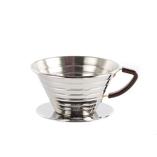Kalita Wave 185 Pour Over Dripper (Stainless Steel)