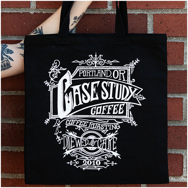 Black Logo Tote Bag
