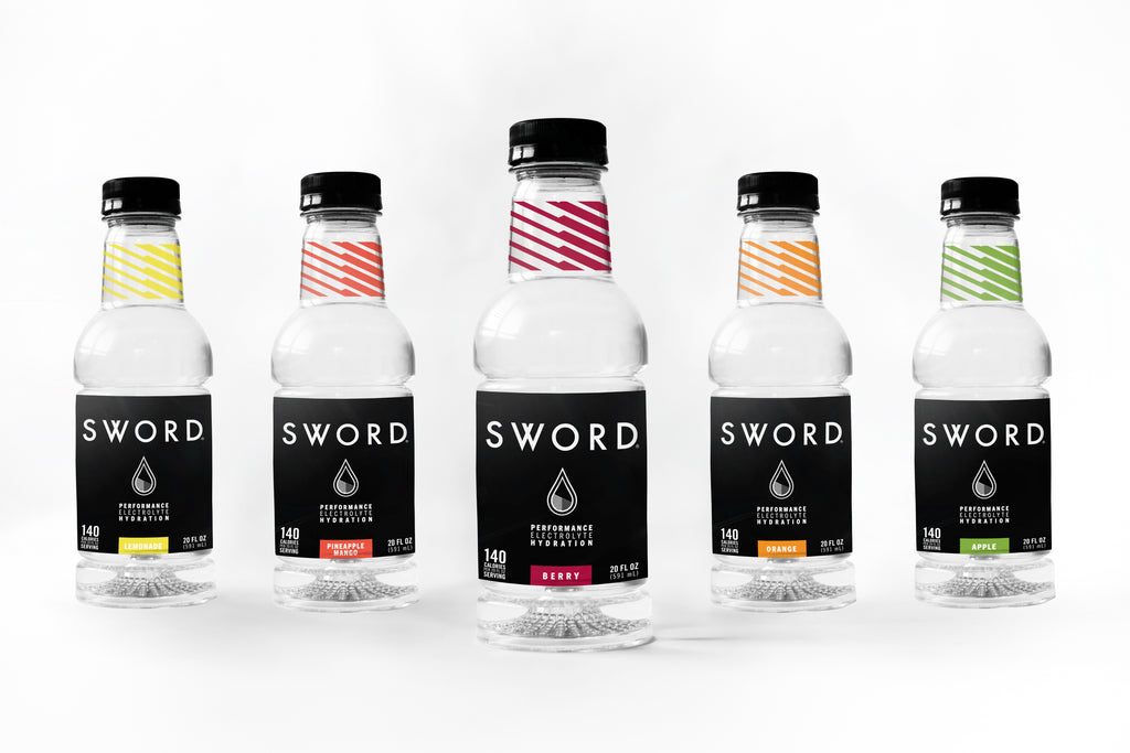 SWORD Performance Hydration bottle family Berry Orange Lemonade Apple Pineapple Mango