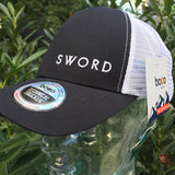 SWORD DNA Performance Technical Trucker Hat, black trucker hat, white mesh trucker hat, BOCO Gear Technical Trucker Hat