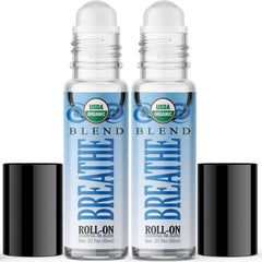 Organic Breathe Blend Essential Oil Roll On (2 PACK)-Healing Solutions | Essential Oils
