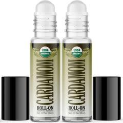 Organic Cardamom Essential Oil Roll On (2 PACK)