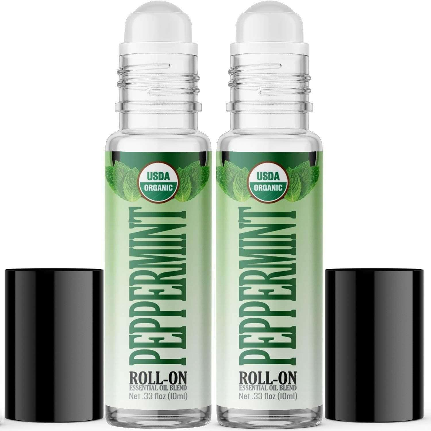 Organic Peppermint Essential Oil Roll On 2 Pack Healing Solutions Essential Oils