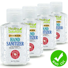Hand Sanitizer Gel – Scent-Free, 75% Alcohol Meets New W.H.O./CDC Standards - 2oz Bottle