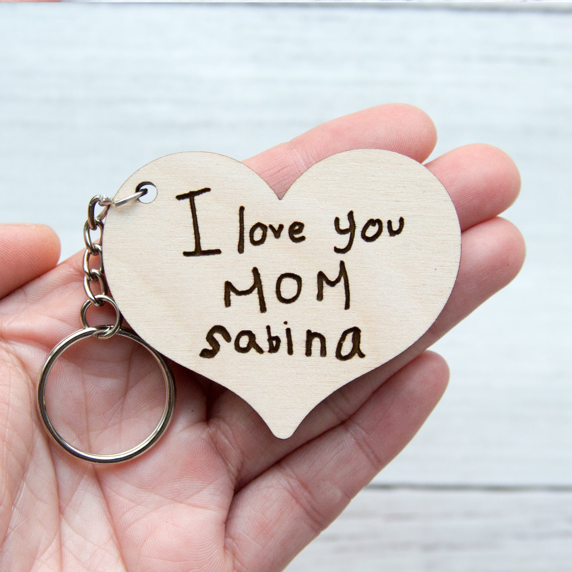 Handwriting Keychain - Mother
