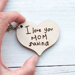 Handwriting Keychain - Mother's Day Gift - Engraved Handwritten Keychain