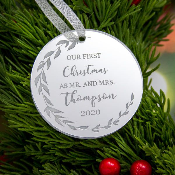 Our First Christmas as Mr. and Mrs. Ornament