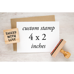 custom rubber stamp 4 x 2 inch