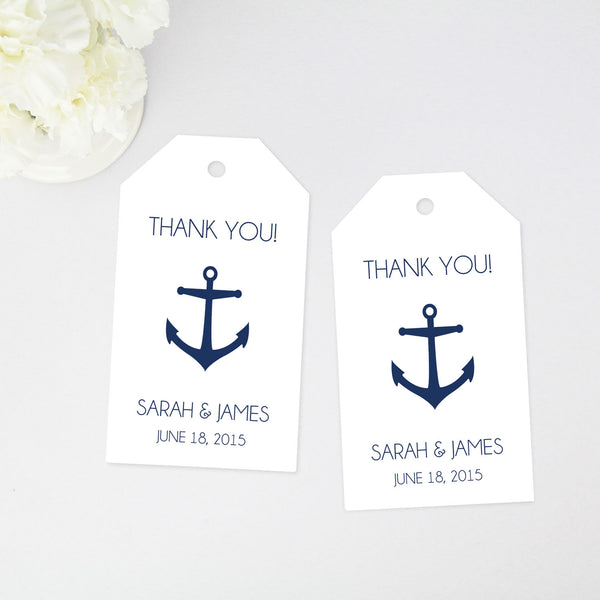 Anchor Thank You Tag - Large Size - 36 Pieces