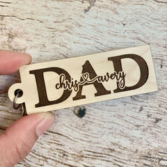Dad Keychain - Father's Day Gift - Personalized Keychain