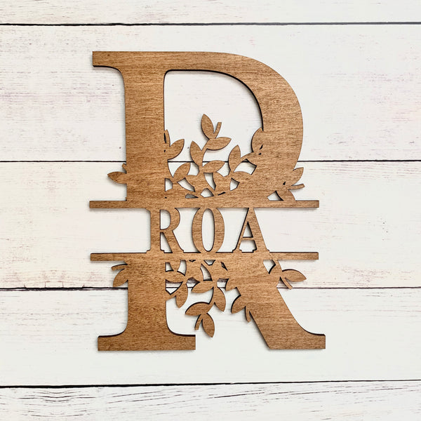 Personalized Wood Monogram Sign