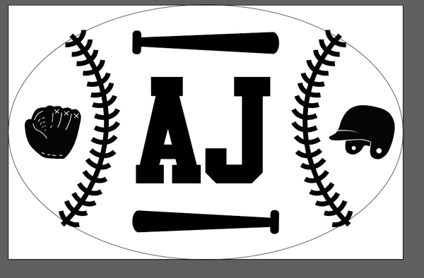Baseball Name Sign Paint Kit
