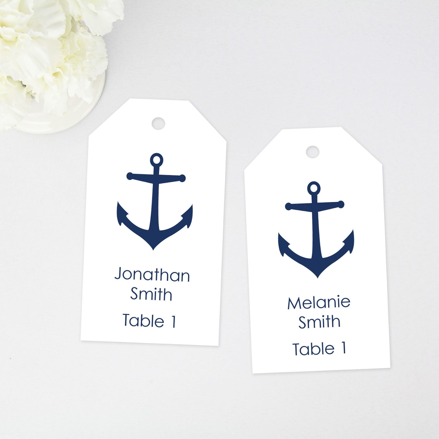 anchor place card tags