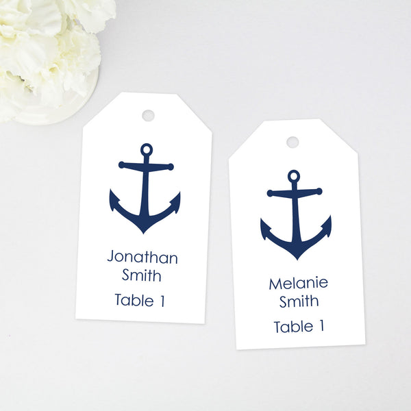 Anchor Place Card Tags - Large Size