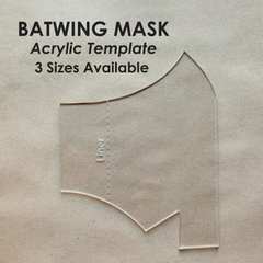 Batwing Mask Acrylic Template - 3 Sizes Available