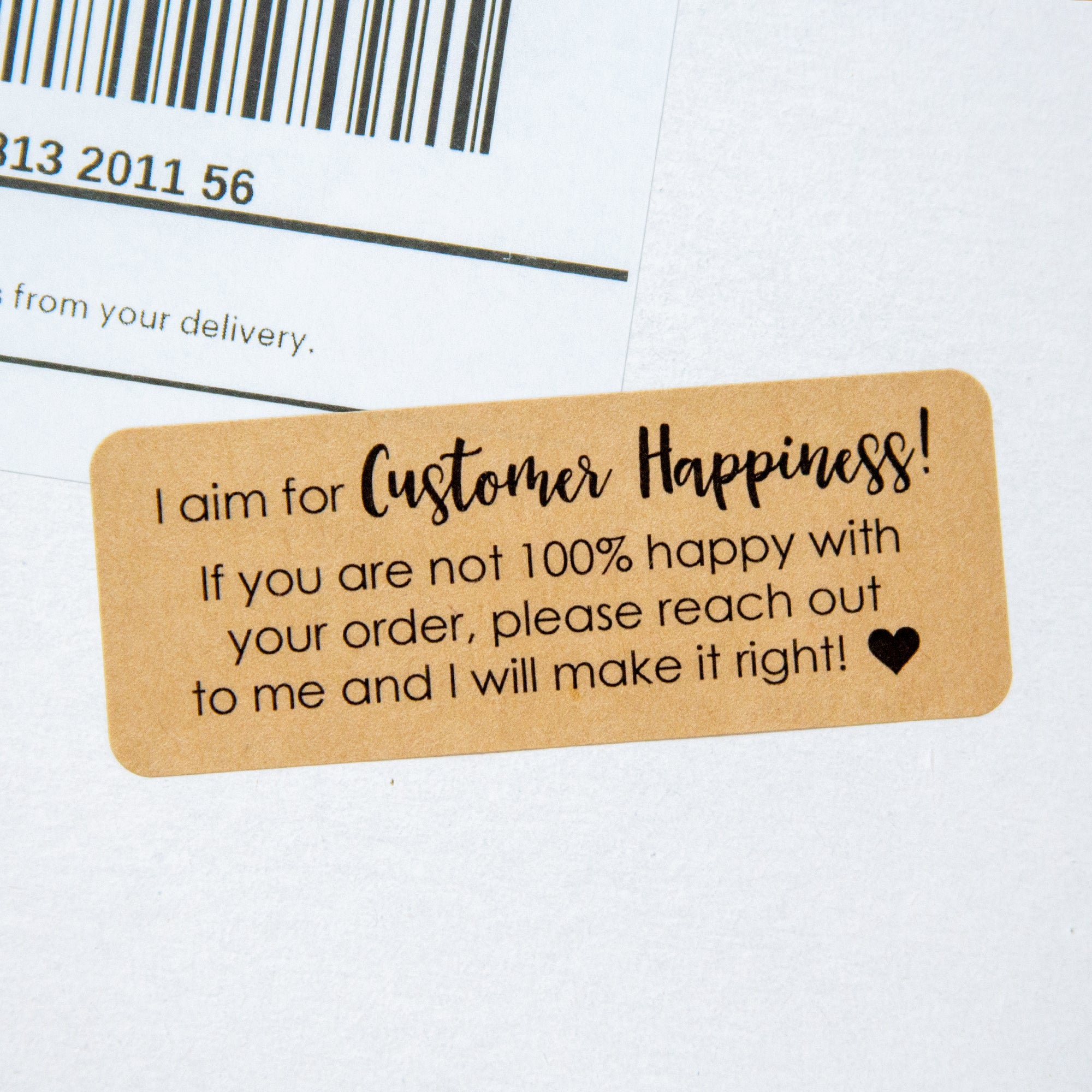 Customer Happiness Stickers - Customer Service Stickers - 150 Stickers