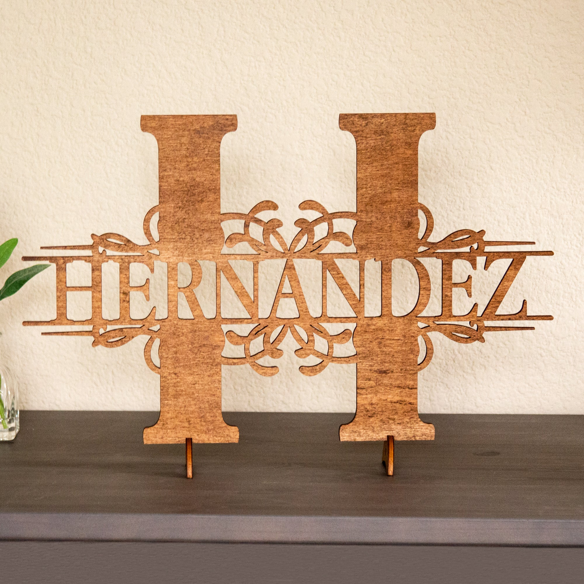 Last Name Wood Monogram