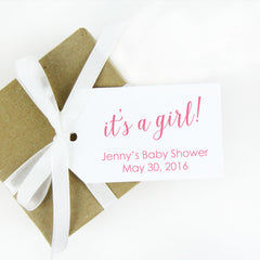its a girl baby shower favor tag