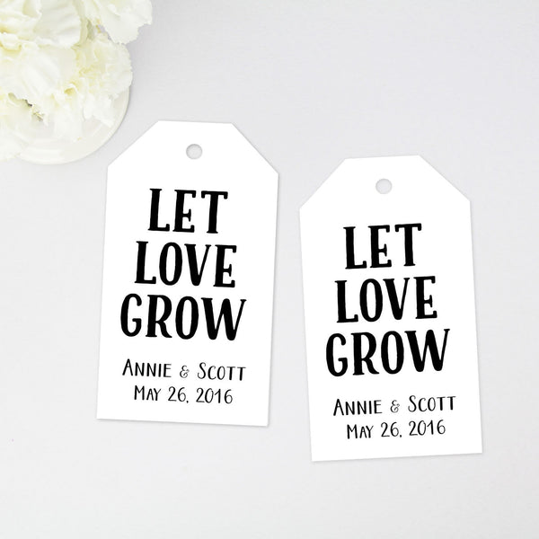 Let Love Grow Favor Tag - 40 Pieces