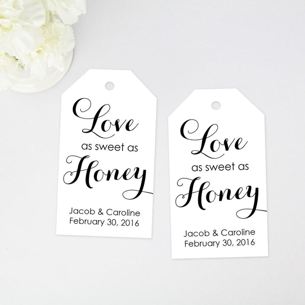 Love as Sweet as Honey Favor Tag - 40 Pieces