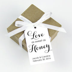 love as sweet as honey favor tag