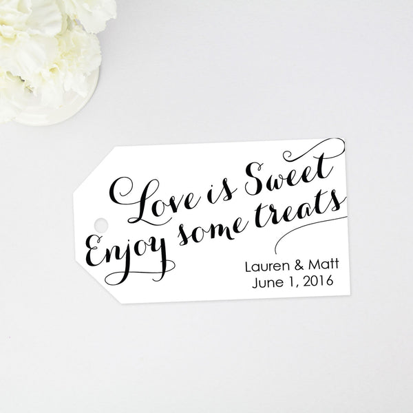 Love is Sweet Enjoy some treats Favor Tag - 40 Pieces