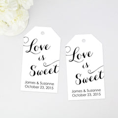love is sweet wedding favor tag