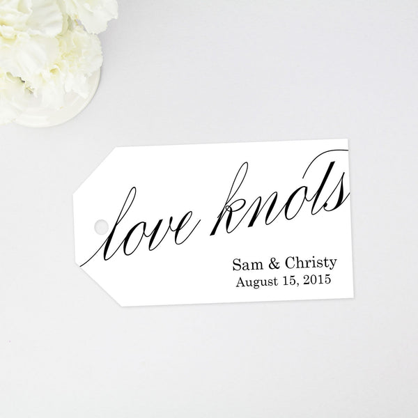 Love Knots Favor Tag - Large Size - 40 Pieces
