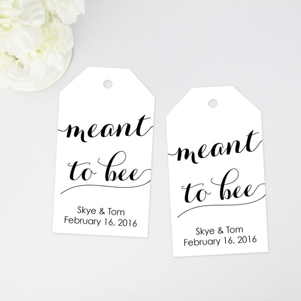 Meant to Bee Favor Tag - Large Size - 40 Pieces