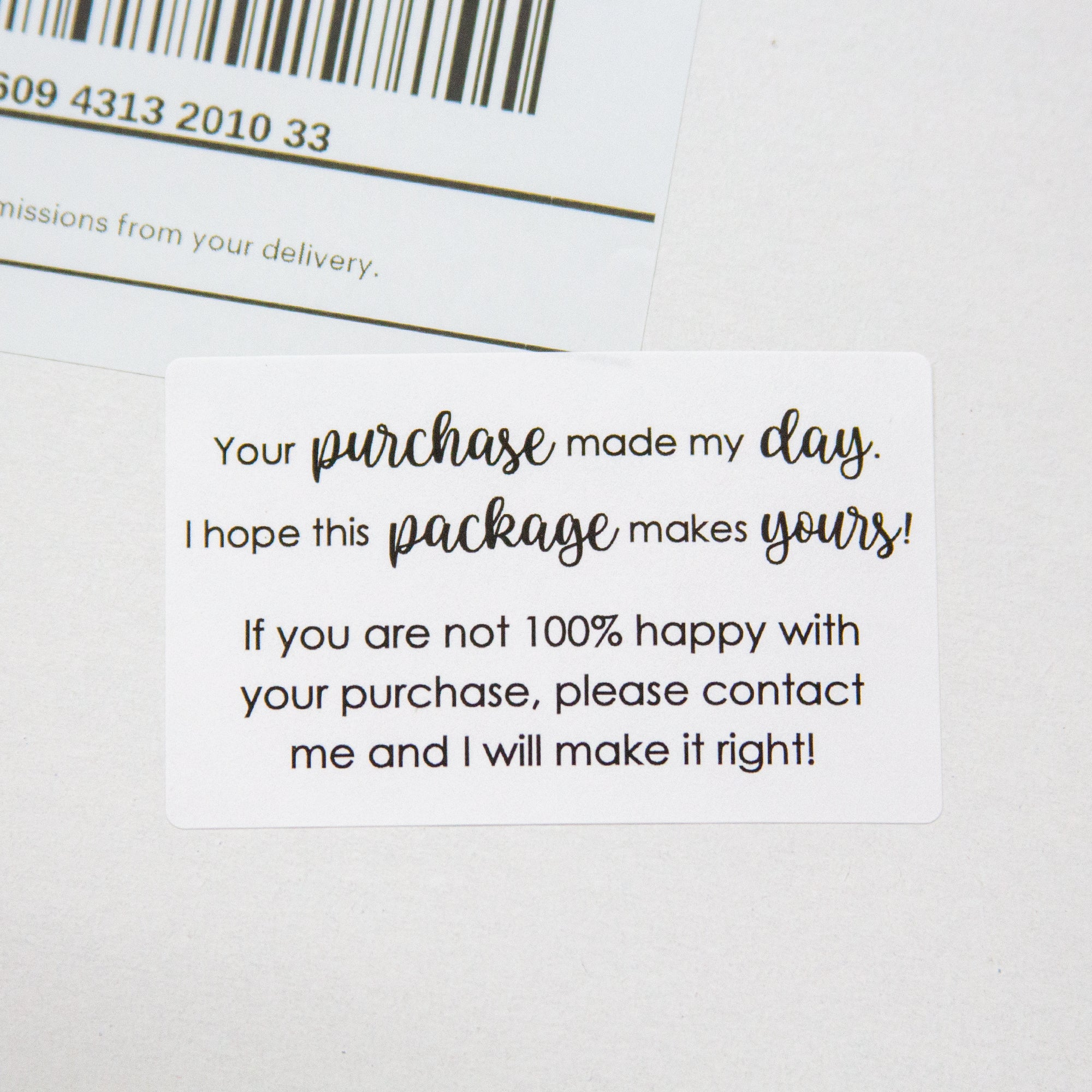 Your purchase made my day stickers - Customer Service Stickers - 90 Pieces