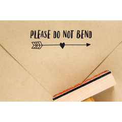 please do not bend stamp