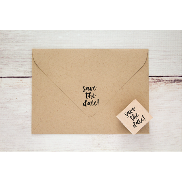 SAVE THE DATE RUBBER STAMP- 1.5 x 1.5 inch