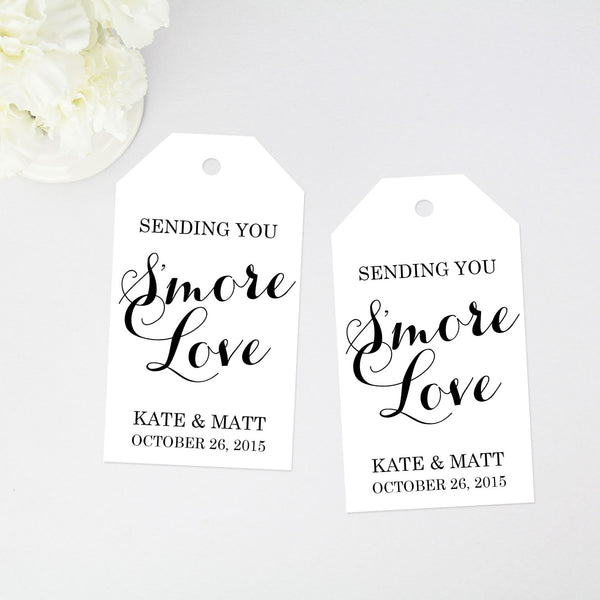Sending you Smore Love Favor Tag - 40 Pieces