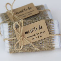 Mint to Be Favor Tag - Small Size - 36 Pieces