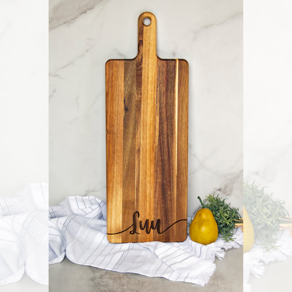Custom Engraved Wood Serving Board