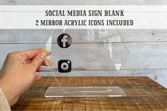 Social Media Sign Blank - Make your Sign