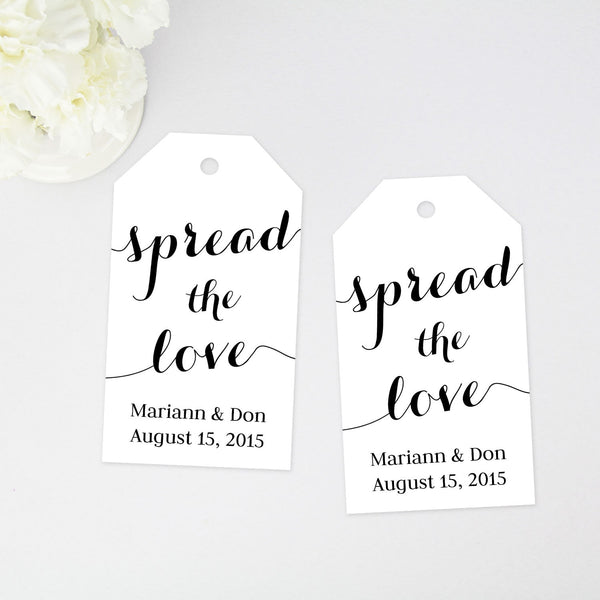 Spread the Love Favor Tag - 40 Pieces