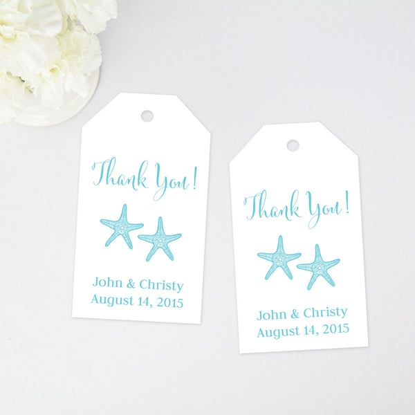 Starfish Thank You Tag - 40 Pieces