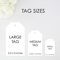 With Love Favor Tag - Large Size - 36 Pieces