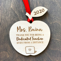 Teacher Thank You Gift Ornament Sign - Distance Learning - Quarantine Year