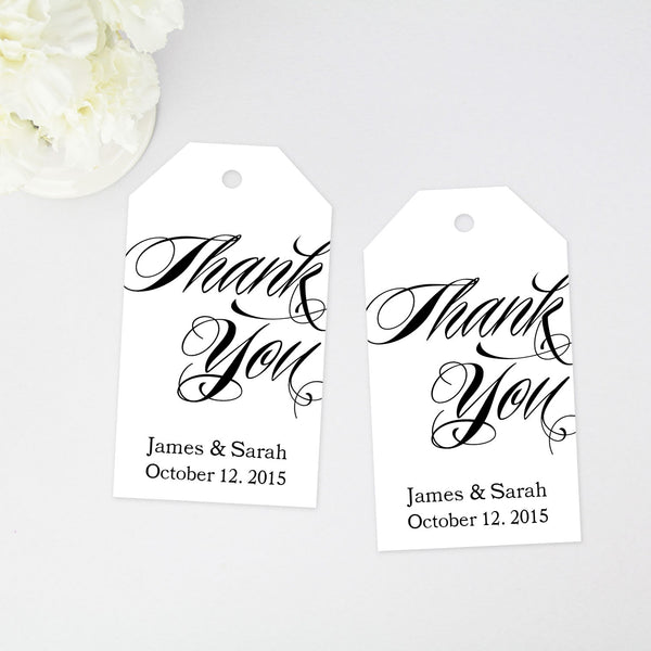 Thank You Favor Tag - Large Size - 36 Pieces